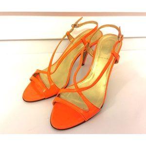 ✨J CREW✨ Bright Orange Strappy Heels